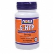 5-HTP 50 мг - 30 капсули-Now За намаляване на стреса
