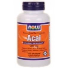 Acai 500 мг - 100 капсули Now Мощен антиоксидант