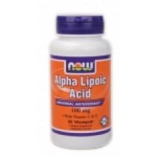 Alpha Lipoic Acid 100 мг - 60 капсули Now Мощен антиоксидант