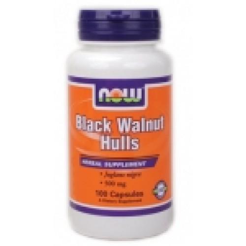 Black Walnut Hulls 500 мг - 100 капсули Now За добро храносмилане