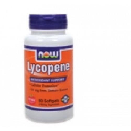 Lycopene 10 мг - 60 дражета Now Антиоксидант