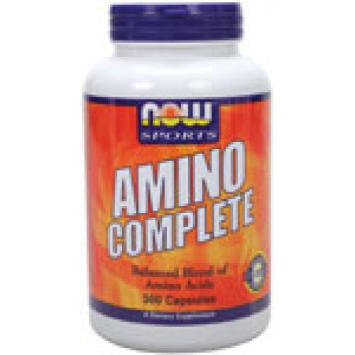 Amino Complete - 360 капсули Now - Комбинирани аминокиселини