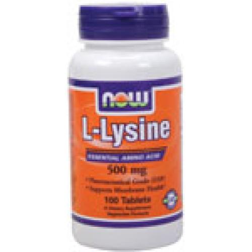 L-Lysine 500 мг - 100 таблетки Now - Незаменима аминокиселина