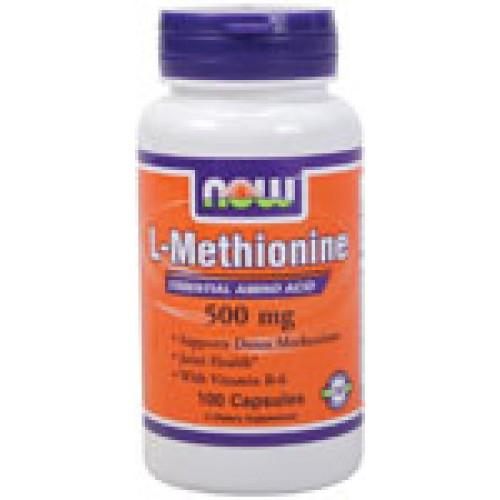 L-Methionine 500 мг - 100 капсули Now - Незаменима аминокиселина