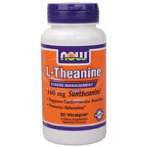 L-Theanine 100 мг - 90 капсули Now - Намалява стреса