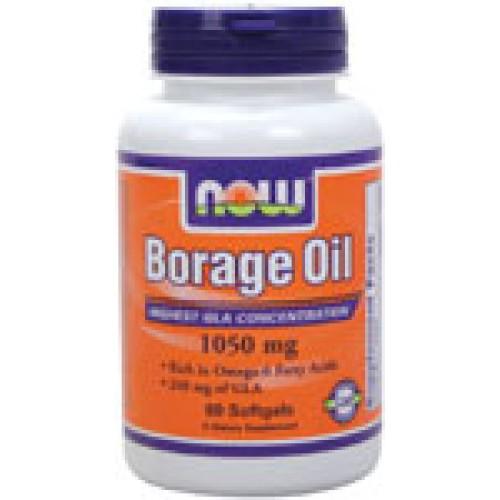 Borage Oil Масло от Пореч 1050 мг - 60 дражета Now Омега-6