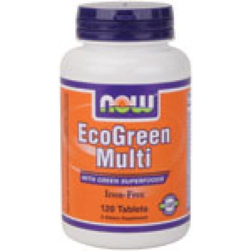 EcoGreen Multi - 120 таблетки Now Витаминна формула
