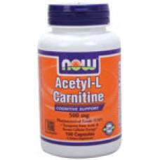 Acetyl-L-Carnitine 500 мг - 100 капсули Now Намаляване на теглото