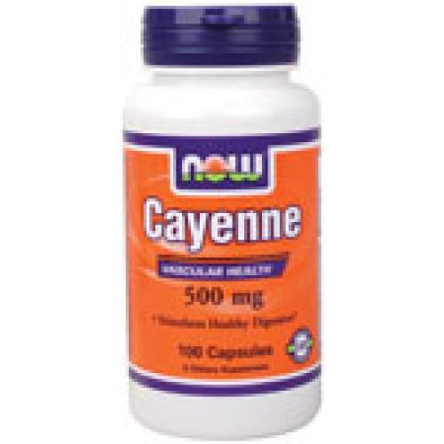 Cayenne (лют червен пипер) 500 мг - 100 Now Ускорява метаболизма