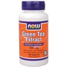 Green Tea Extract 400 мг - Now Регулира теглото, антиоксидант
