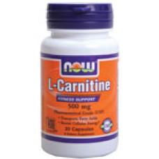 L-Carnitine 500 мг Now Намаляване на мазнините