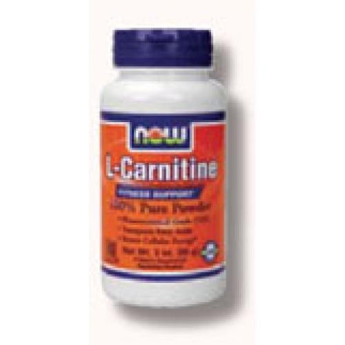 Acetyl-L-Carnitine Прах - 85 гр Now Намаляване на теглото