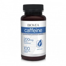 CAFFEINE 200mg 100  таблетки - осигурява енергия, стимулира метаболизма