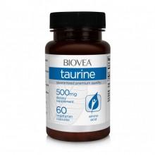 TAURINE 500mg 60 Capsules - подобрява мускулната дейност, ЦНС и сърцето - срок на годност - 30.04.2020