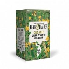 Био зелен чай с краставица 20 филтъра - Heath & Heather