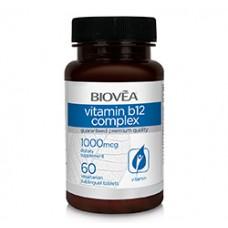 VITAMIN B12 COMPLEX 1000mcg 60 Vegetarian Sublingual Tablets - за нервната система и мозъка