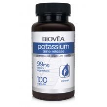 POTASSIUM (TIME RELEASE) 99mg 100 Capsules - подпомага щитовидната и надбъбречната жлеза