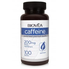 CAFFEINE 200mg 100 Tablets - ободрява при преумора