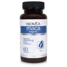 MACA (Organic) 500mg 60 Capsules - афродизиак, подсилва либидото