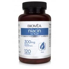 NIACIN (Vitamin B3)300mg 120 caps. - регулира кръвообращението