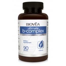 ULTIMATE B COMPLEX 500 + Vitamin C 90 Tablets -забавя стареенето