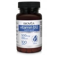 VITAMIN B12 500mcg 100 Sublingual Tablets - за синтезата на ДНК