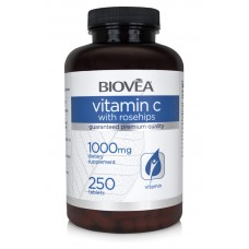 VITAMIN C with ROSEHIPS 1000mg 250 Tablets - мощен антиоксидант и имуностимулатор