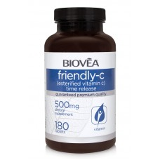 FRIENDLY-C (Esterfied Vitamin C Time Release) 500mg 180 Tablets - силен антиоксидант
