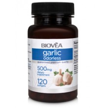 GARLIC (ODORLESS) 500mg 120 капсули - противоинфекциозно действие, понижава холестерола
